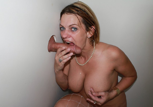 gh4 1 Cockhungry MILF devours a huge gloryhole dick